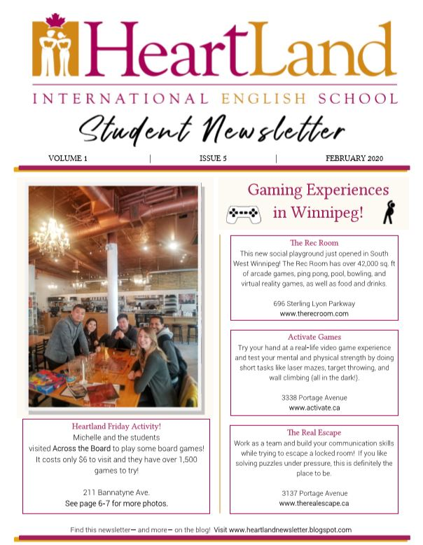 Heartland Student Newsletter February 2020