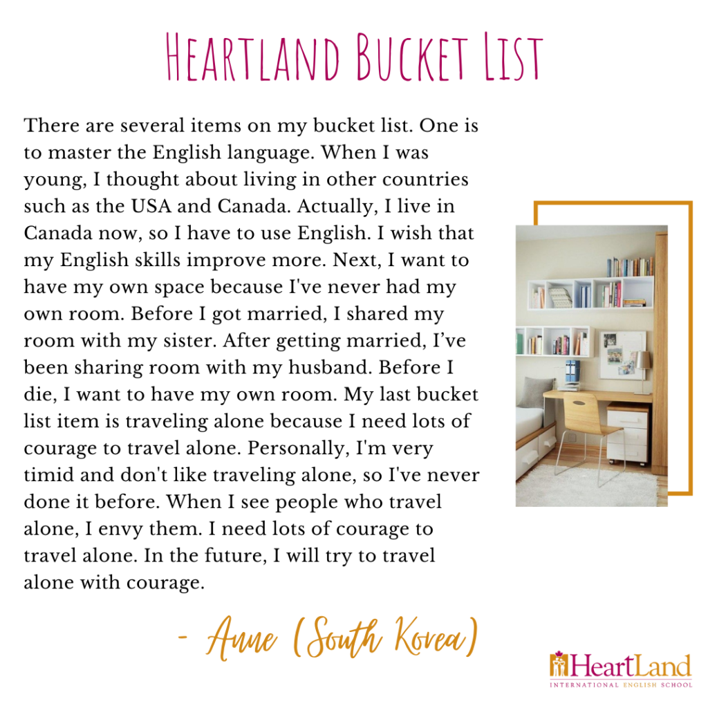 Our Bucket Lists